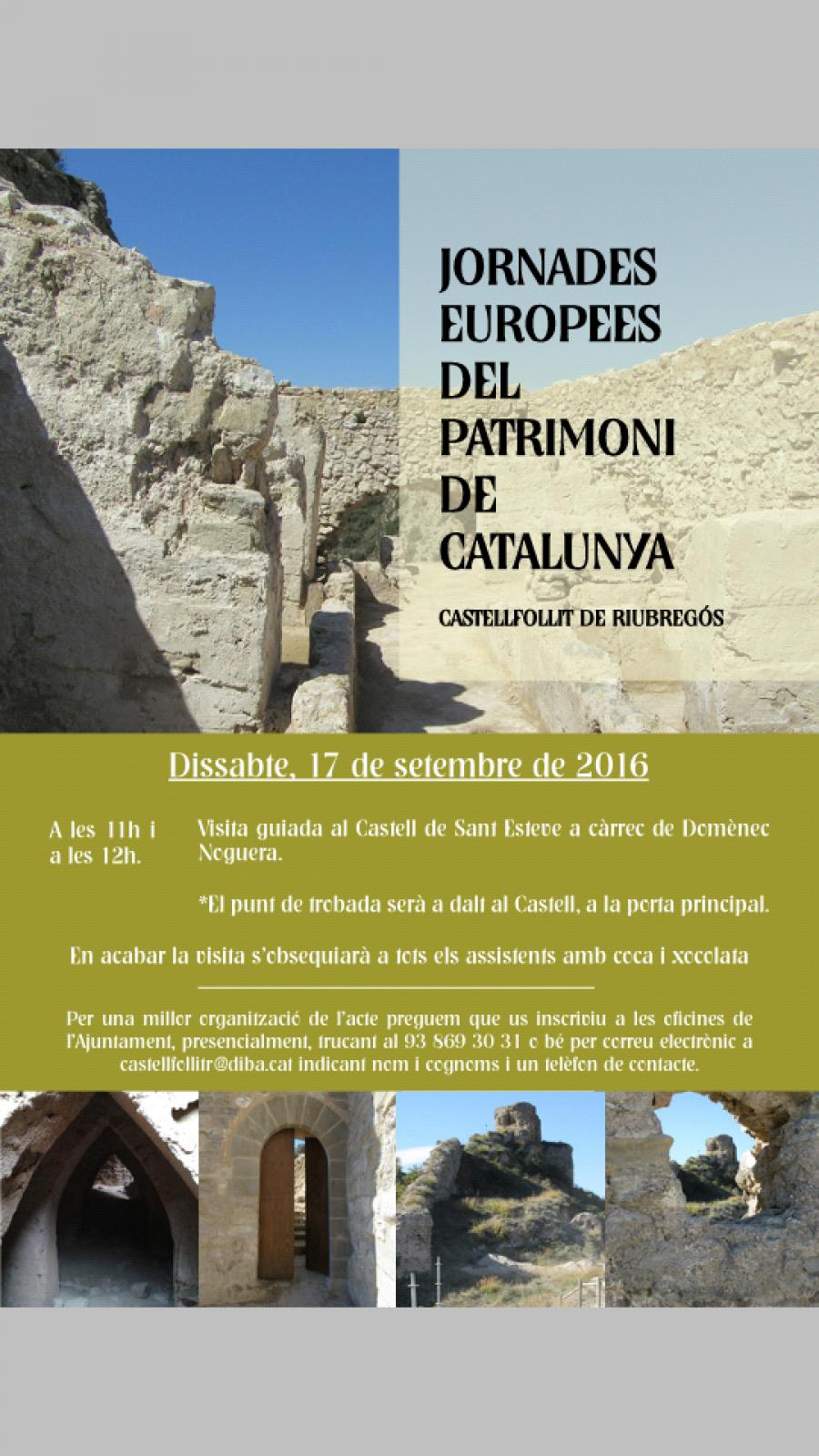 cartell Castell de Sant Esteve
